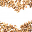 Heart frame made of walnuts — Stock Photo