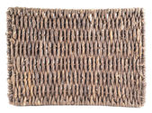 Brown wicker coaster isolated — Stock Photo