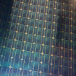 Solar photovoltaic module panel fragment — Stock Photo