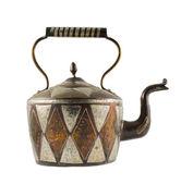 Authentic metal teapot vessel isolated — Stock Photo