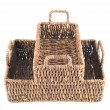 Royalty-Free Stock Photo: Two brown wicker baskets isolated
