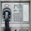 Public payphone card telephone — Stock Photo