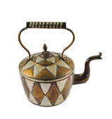 Authentic metal teapot vessel isolated — Stock Photo