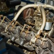 Old aircraft engine — Stock Photo