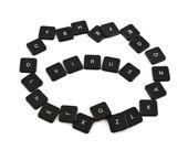 Palavra vírus feito de botões do teclado isolados — Fotografia Stock