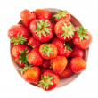 Stock Photo: Bowl full of ripe strawberries isolated