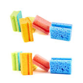 Composición de esponja colorida cocina — Foto de Stock