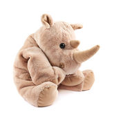 Rhinoceros rhino plush toy — Stock Photo