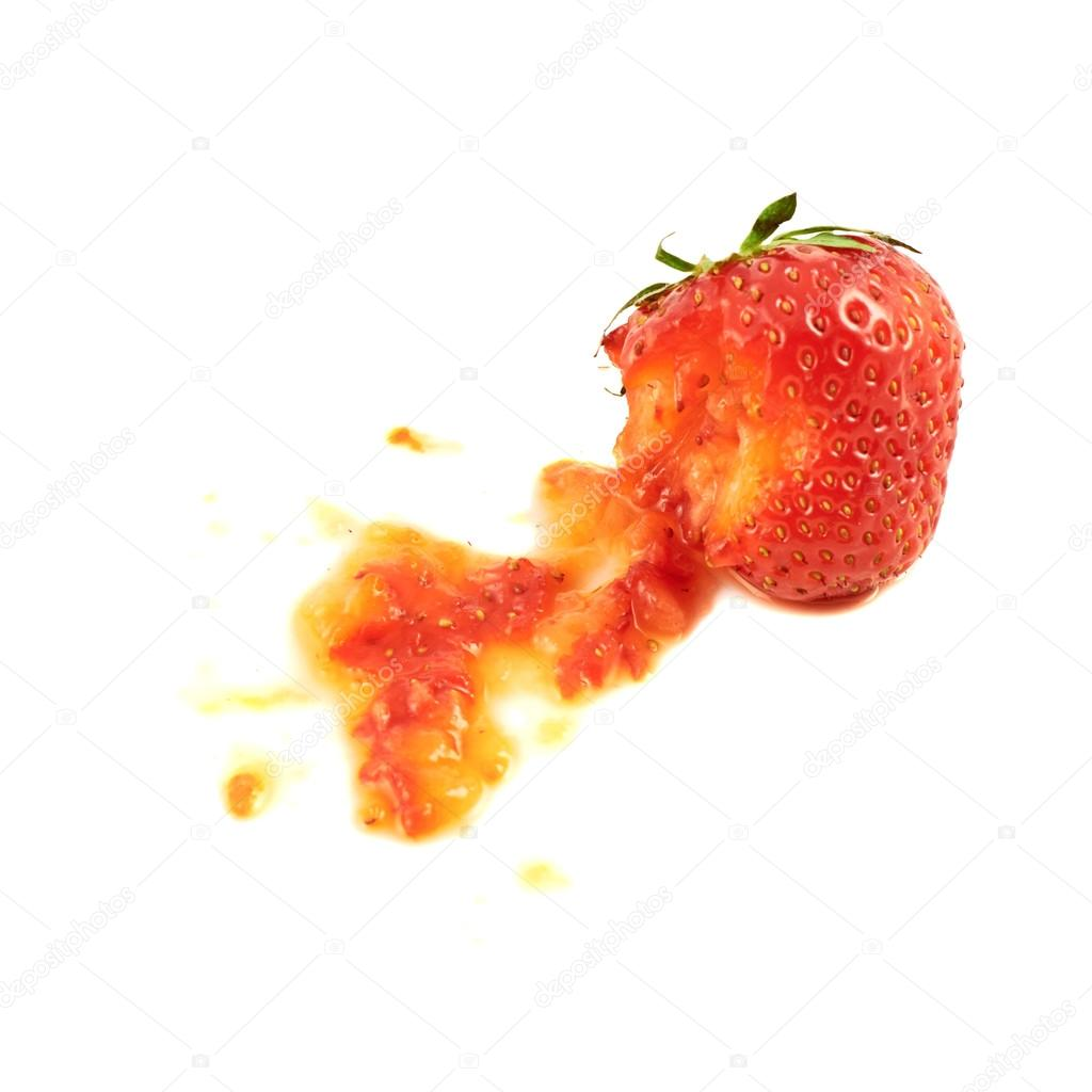 Fraise cras e isol photographie exopixel 27890235 - Couleur fraise ecrasee ...
