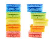 Pile of kitchen sponges — Stock Photo