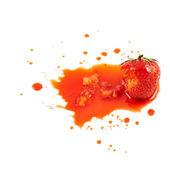 Squashed strawberry isolated — Stock Photo