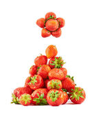 Strawberries composed as christmas tree — Stock Photo