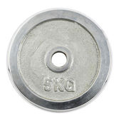 Metal barbell plate isolated — Stock Photo