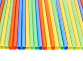 Drinking straw background — Stock Photo