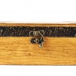 Old-fashioned wooden casket — Stock Photo