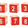 Playing cubes with a numbers — Stock Photo