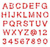 Alfabeto de abc de la mancha blanca /negra puntos — Foto de Stock