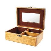 Caixão de madeira à moda antiga — Foto Stock