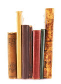 стек старых книг изолированные — Стоковое фото