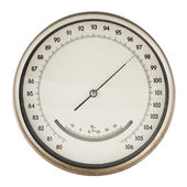 Old barometer isolated — Stock Photo