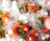 Seasonal Christmas decoration background — Foto Stock