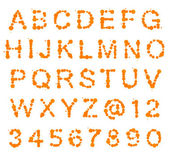 ABC alphabet made of blot spots — Stock Photo
