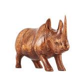 Nosorożec nosorożec rzeźby na białym tle — Zdjęcie stockowe