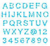 Abc alfabet z miejsca zmaza — Zdjęcie stockowe