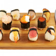 Sushi composition over cutting board — Foto Stock