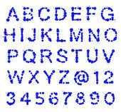 Alfabeto ABC de mancha manchas — Fotografia Stock
