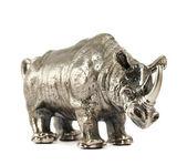 Nosorožec nosorožec sochařství, samostatný — Stock fotografie