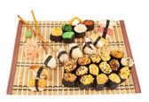 Nigirizushi and baked sushi composition — Stock Photo
