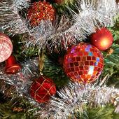 Seasonal Christmas decoration background — Stock Photo