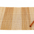 Stock Photo: Chopsticks over a bamboo mat