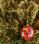 Seasonal Christmas decoration background — Stock Photo
