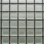 Glass brick wall fragment — Stock Photo