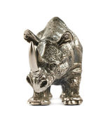 Rhinoceros rhino sculpture isolated — Stock Photo
