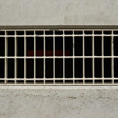 Water drain grill fragment — Stock Photo