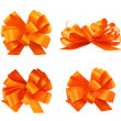 Set of four gift bows — Stock Photo