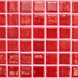 Wall tiled with red tiles — Stock Photo