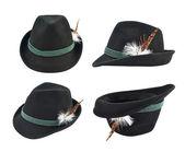 Dark fedora like hat isolated — Stock Photo