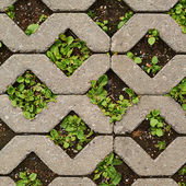 Earth ground covered with tiles — Stock Photo
