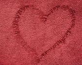 Dark red color towel cloth — Stock Photo