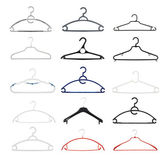 Clothes coat hanger isolated — Stock Photo