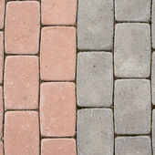 Tiled with paving stone bricks path — Stock Photo