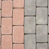 Tiled with paving stone bricks path — Stock Photo