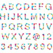 ABC alphabet made of blot spots — Stock Photo
