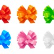 Stock Photo: Gift ribbon bow set, isolated