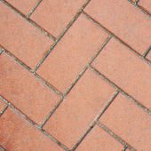 Red brick pavement fragment texture — Stock Photo