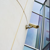 CCTV camera on the wall — Stock Photo